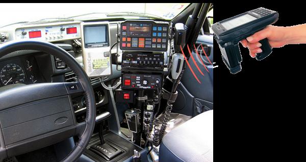 Hardcat RFID reader scanning police car assets