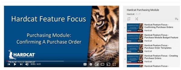 Hardcat purchasing module video playlist