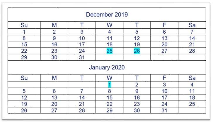 Hardcat support calendar 2019/2020